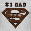 Superman Super Dad Football - T-shirt herr