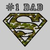 Superman Super Dad Army - Herre-T-shirt
