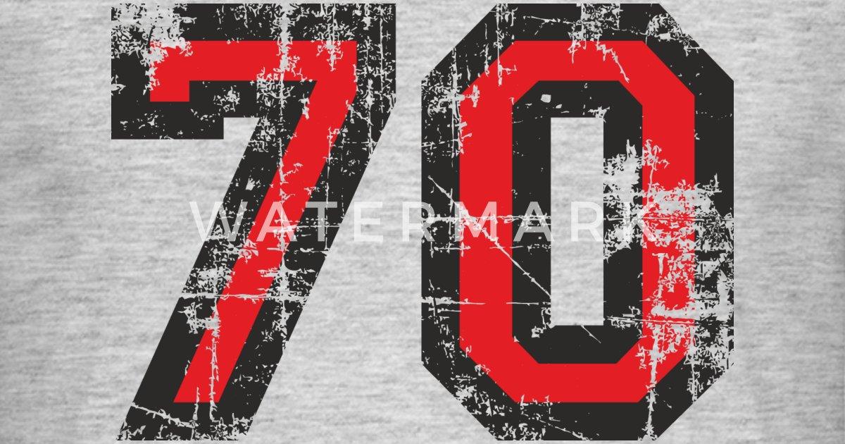 Number 70 Seventy 70th Birthday Design Eu By Theshirtshops Spreadshirt