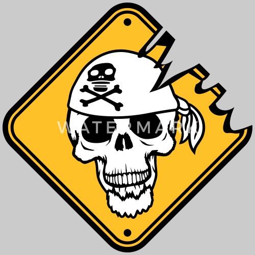 Warnung Gefahr Achtung Hinweis Schild Kapitaen Mat Männer T Shirt