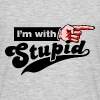 I'm with Stupid Finger Pointer Right - Männer T-Shirt