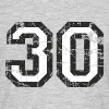 Number 30 Thirty 30th Birthday Design (EU) - Men's T-Shirt