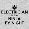 electrician day ninja by night - Men's T-Shirt