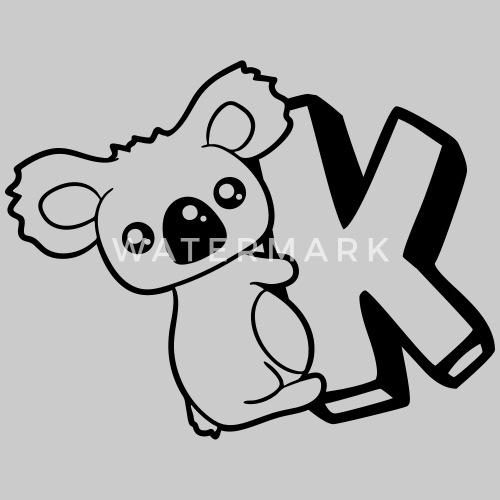 Australia Koala Bear Cute Cute Letter K Initial Le By Style O Mat