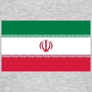 National Flag Of Iran - Herre-T-shirt