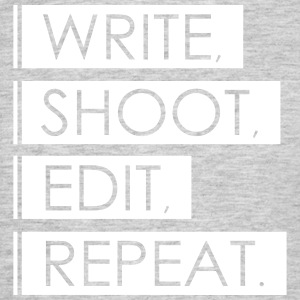 Skriv, Shoot, Rediger, Repeat - T-skjorte for menn