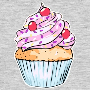 cupcake - T-skjorte for menn