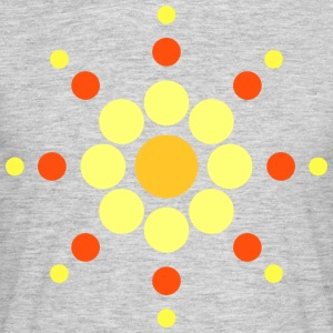 Sun circles 70s style - Men's T-Shirt