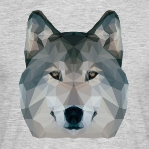 Low Poly Wolf - Mannen T-shirt