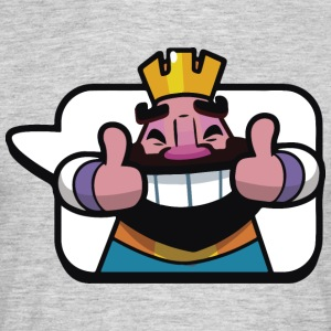Emoticon König Royale Clash - Männer T-Shirt