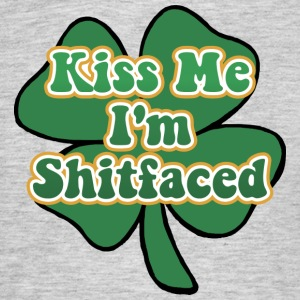 Kiss Me I'm Irish and Shitfaced - Men's T-Shirt