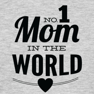 number 1 mom in the world white - Men's T-Shirt