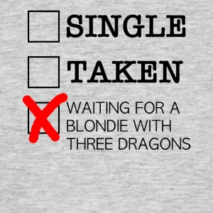 WAITING FOR A BLONDIE WITH THREE DRAGONS black - Men's T-Shirt