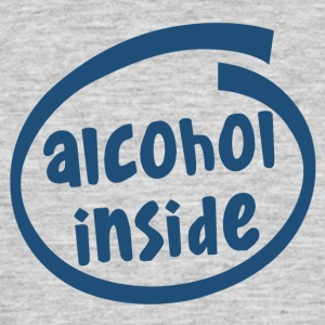 alcohol inside (1841C) - Männer T-Shirt