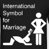 International Symbol for Marriage - Hochzeit - Heirat - Wedding - funny - lustig - fun - joke - Spru - Männer T-Shirt