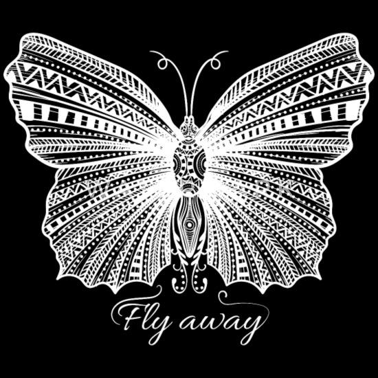Papillon Mandala Tribal Dessin Art T Shirt Homme Spreadshirt