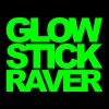 Glow Stick Raver 2 Rave Quote - T-skjorte for menn