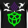 Celtic thistle 3 colour vector Gaelic design - Men's T-Shirt