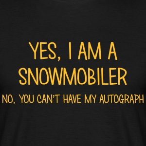 snowmobiler yes no cant have autograph