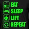Eat Sleep Lift Repeat - T-shirt Homme