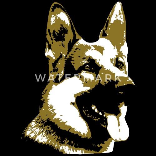 Dessin chien berger allemand 3 couleurs t shirt homme - Dessin de chien berger allemand ...