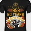 1958 60 Years Of Being Awesome - Men's T-Shirt
