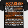 Aquarians Difficult Ones To Understand Zodiac Tees - Men's T-Shirt