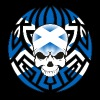Scotland Tribal Skull - Men's T-Shirt