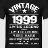 VINTAGE 1999-LIVING LEGEND - Men's T-Shirt