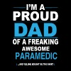 dad PARAMEDIC daughter - Men's T-Shirt