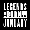 Legends Are Born in January - T-shirt - Men's T-Shirt