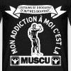 mon addiction la muscu t-shirt humour fitness - T-shirt Homme