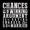 Chances of A Man Winning An Argument. - Men's T-Shirt