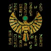 Egyptian Horus Falcon gold and color crystal - Men's T-Shirt