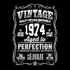 1974 Aged to Perfection White print - Men's T-Shirt
