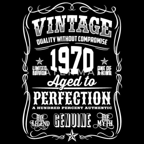 1970 Vintage 48th Birthday Gift 48 Years Old By T Shirt Of The Year