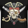 Yobeeno Pirate Skull - Men's T-Shirt