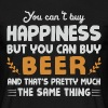 You can't buy happiness, but beer - Men's T-Shirt