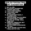 Rules for dating my daughter (dark) - Mannen T-shirt