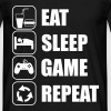 eat sleep game geek - Gaming Nerd - Männer T-Shirt