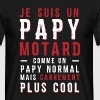 papys mortards, papi cool, papy motard - T-shirt Homme