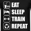 Eat Sleep Train Repeat - Maglietta da uomo