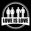 LOVE IS LOVE GAY LESBIAN - T-shirt Homme