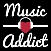 Music Addict, music - Men's T-Shirt