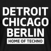 Detroit Chicago Berlin home of techno minimal Club - T-shirt Homme