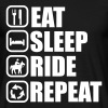 EAT SLEEP RIDE , Pferde  - Männer T-Shirt