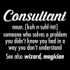 Consultant - Definition - Herre-T-shirt