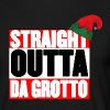 Straight Outta Da Grotto - Christmas Elf - Men's T-Shirt