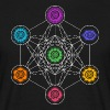 Metatrons Cube, Chakras, Cosmic Energy Centers - Men's T-Shirt