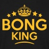 bong king keep calm style crown stars - Men's T-Shirt